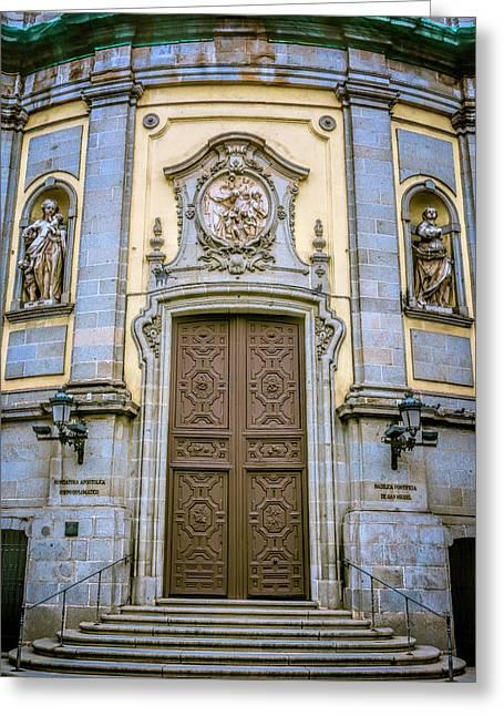 San Miguel Portal Madrid Spain Greeting Card