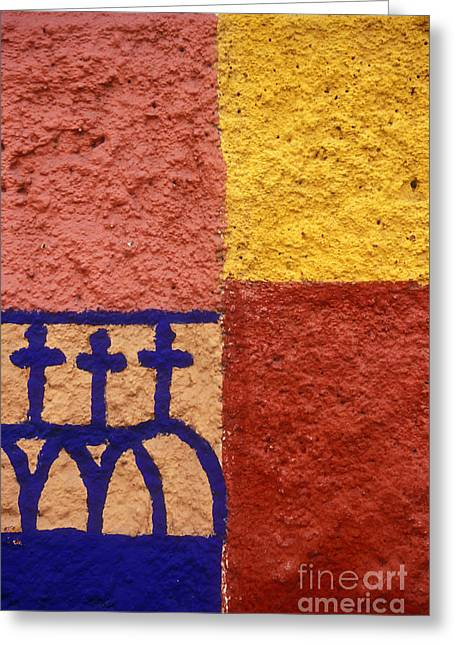 Greeting Card featuring the photograph San Miguel Wall San Miguel De Allende Mexico by John  Mitchell