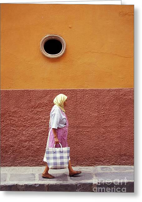 Greeting Card featuring the photograph San Miguel Woman San Miguel De Allende Mexico by John  Mitchell