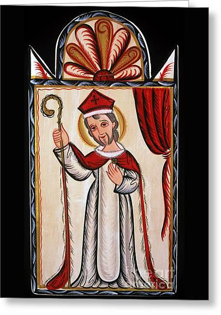 San Nicolas - St. Nicholas - Aosni Greeting Card