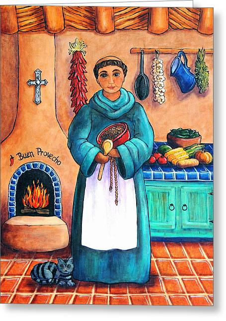 San Pascual In Blue Greeting Card by Candy Mayer