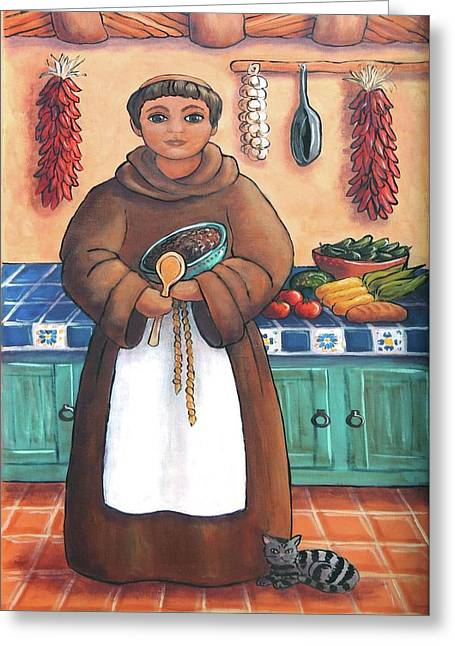 San Pascual In Brown Greeting Card by Candy Mayer