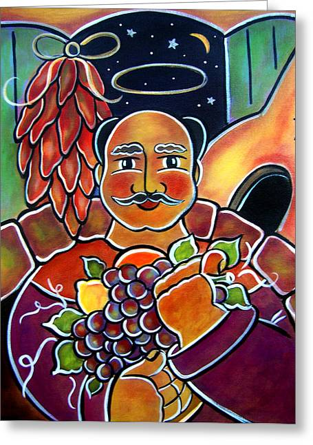 San Pasqual Greeting Card by Jan Oliver-Schultz