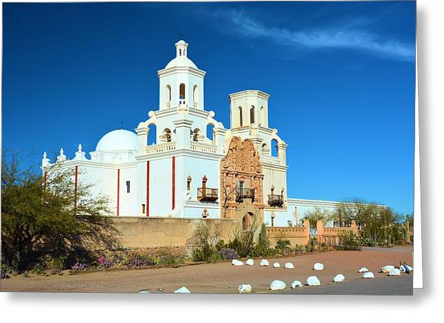 San Zavier Mission Tucson Greeting Card