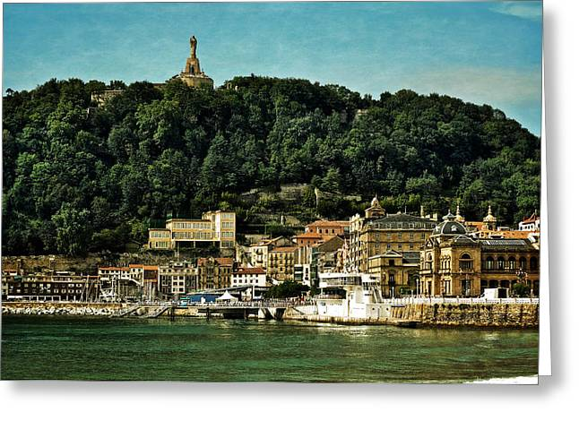 San Sebastian Spain Greeting Card by Mary Machare