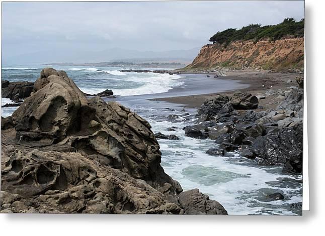 San Simeon Ca Coastal I Greeting Card by David Gordon