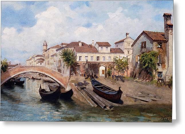 San Trovaso Boatyard In Venice Greeting Card