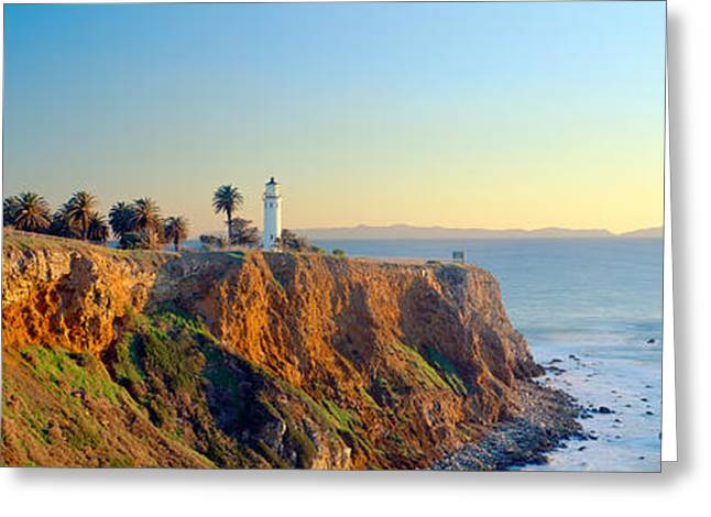 San Vicente Lighthouse At San Pedro Greeting Card by Panoramic Images
