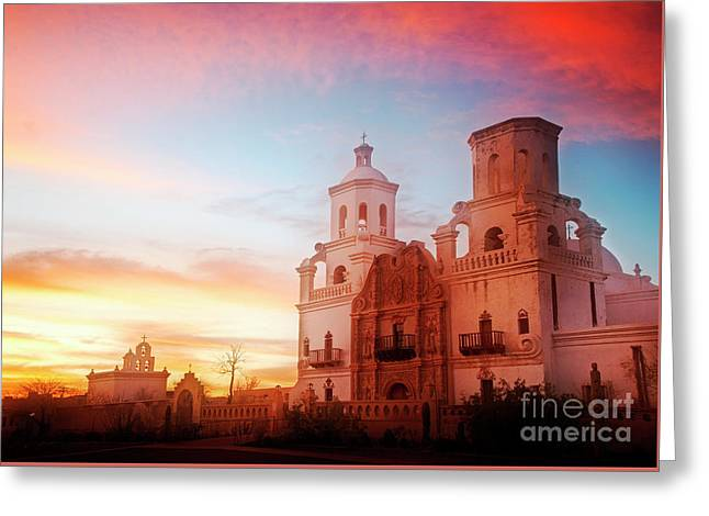 Greeting Card featuring the photograph San Xavier Del Bac by Scott Kemper