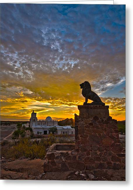 San Xavier Guardian Greeting Card