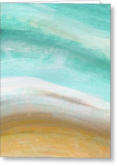 Sand And Saltwater- Abstract Art By Linda Woods Greeting Card by Linda Woods