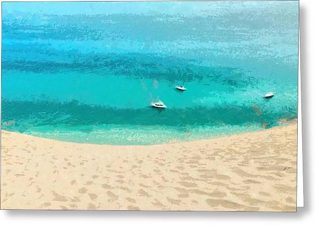Sand And Sea - Da Greeting Card by Leonardo Digenio