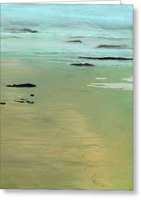 Sand And Sea Greeting Card by Ethel Vrana