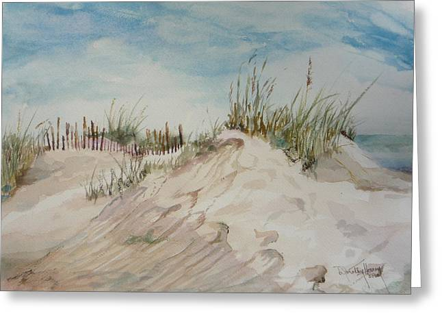 Sand And Sky Greeting Card by Dorothy Herron