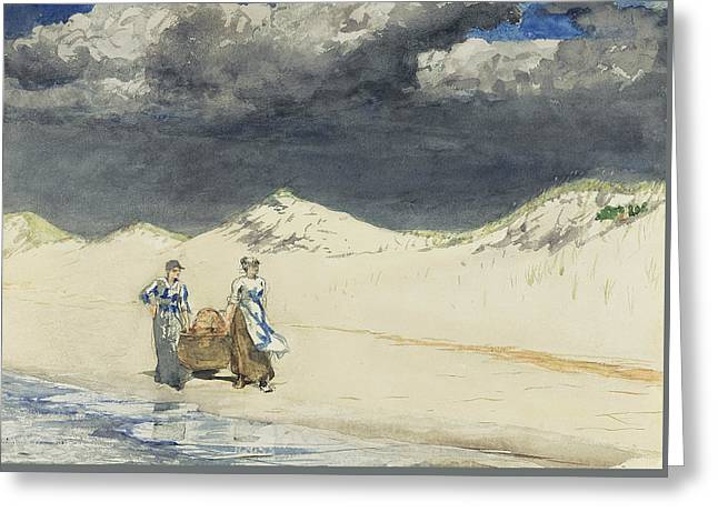 Sand And Sky Greeting Card by Winslow Homer
