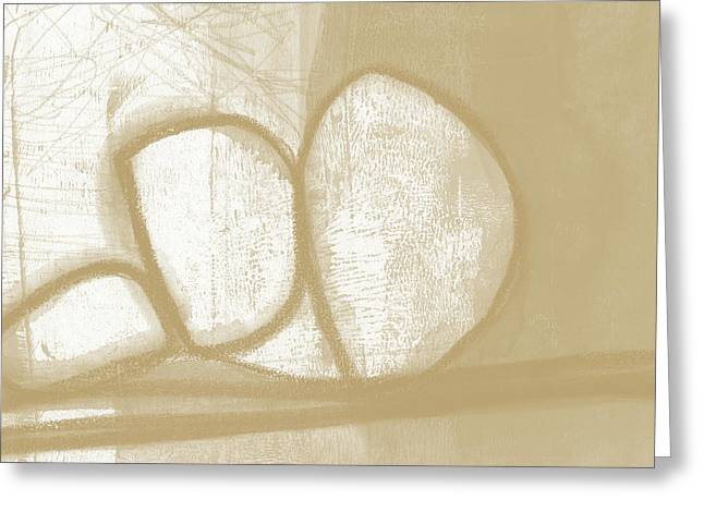 Sand And Stone 1- Contemporary Abstract Art By Linda Woods Greeting Card