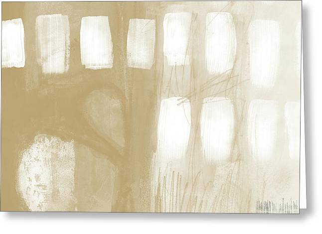 Sand And Stone 4- Contemporary Abstract Art By Linda Woods Greeting Card by Linda Woods