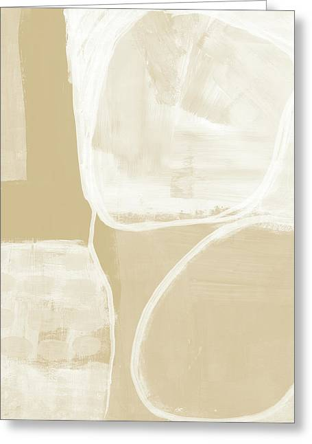 Sand And Stone 5- Contemporary Abstract Art By Linda Woods Greeting Card by Linda Woods