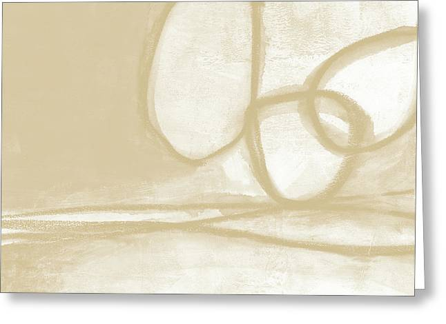 Sand And Stone 6- Contemporary Abstract Art By Linda Woods Greeting Card by Linda Woods
