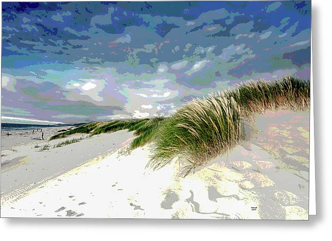 Sand And Surfing Greeting Card
