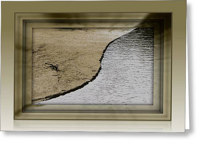 Sand And Water Greeting Card by Dottie Dees