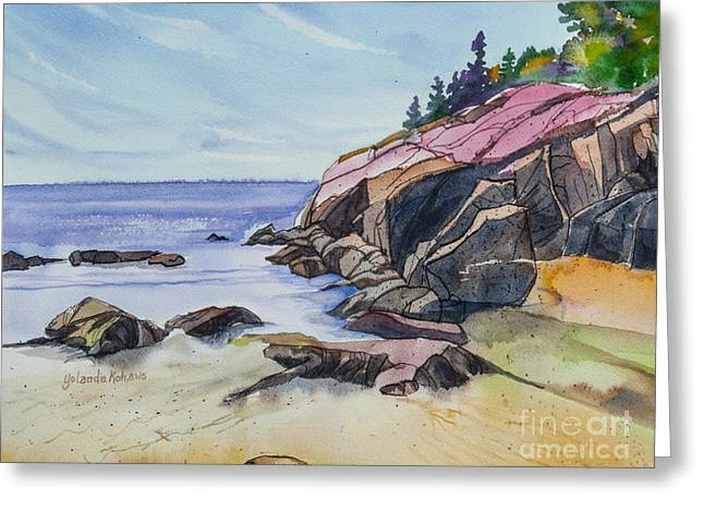 Sand Beach I Greeting Card by Yolanda Koh