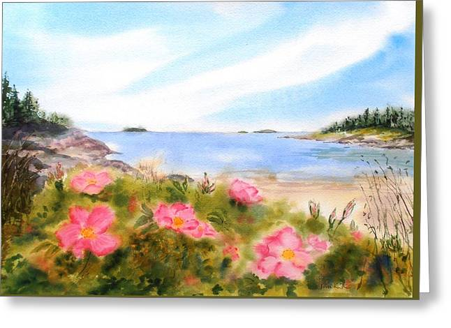 Sand Beach Roses Greeting Card