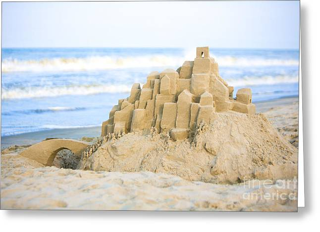 Sand Castle Greeting Card by Diane Diederich