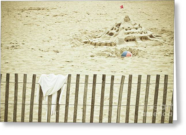 Sandcastle On The Beach Greeting Card by Colleen Kammerer