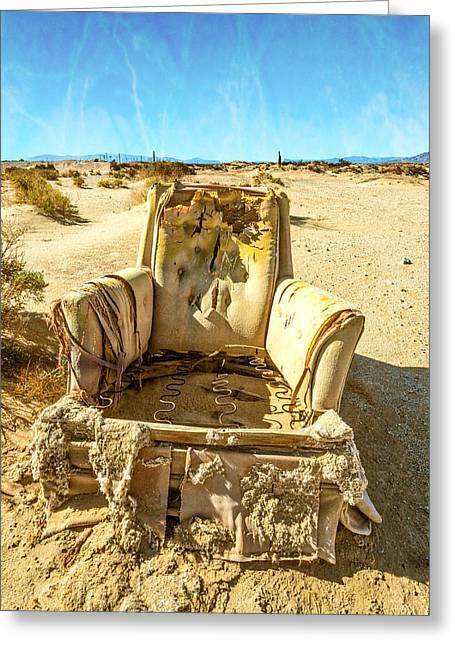Sand Chair Greeting Card
