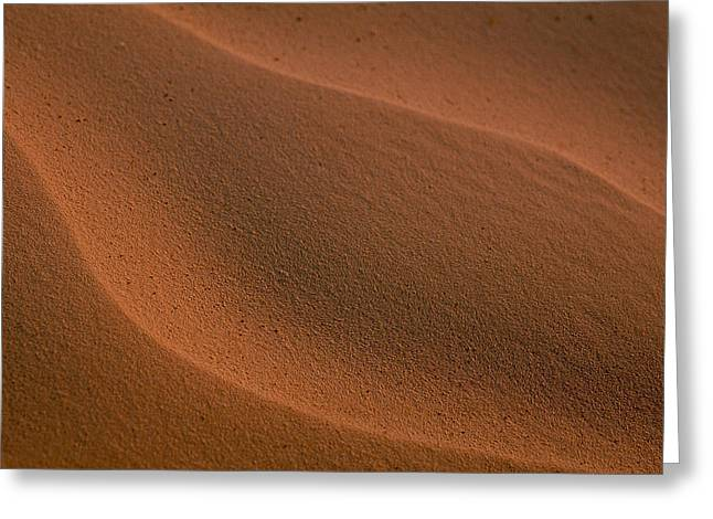 Sand Curves Greeting Card