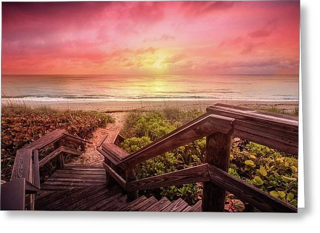 Greeting Card featuring the photograph Sand Dune Morning by Debra and Dave Vanderlaan