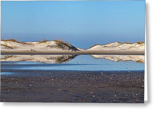 Sand Dune Reflections On The Outer Banks Greeting Card