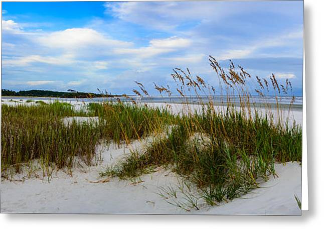 Sand Dunes And Blue Skys Greeting Card