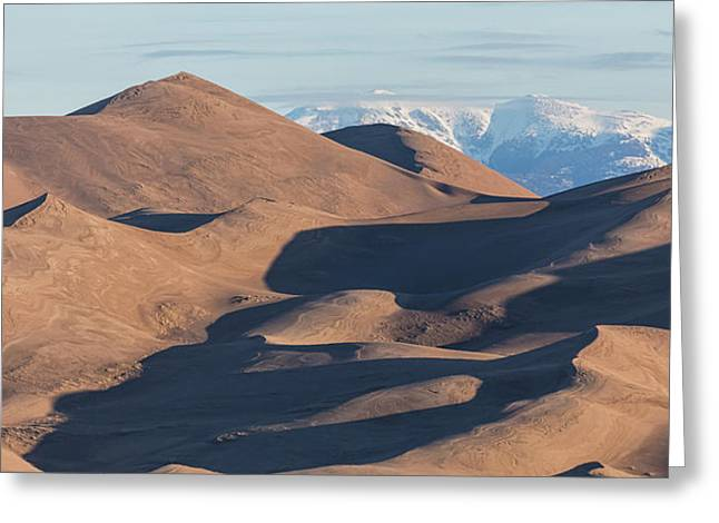 Sand Dunes And Rocky Mountains Panorama Greeting Card by James BO Insogna