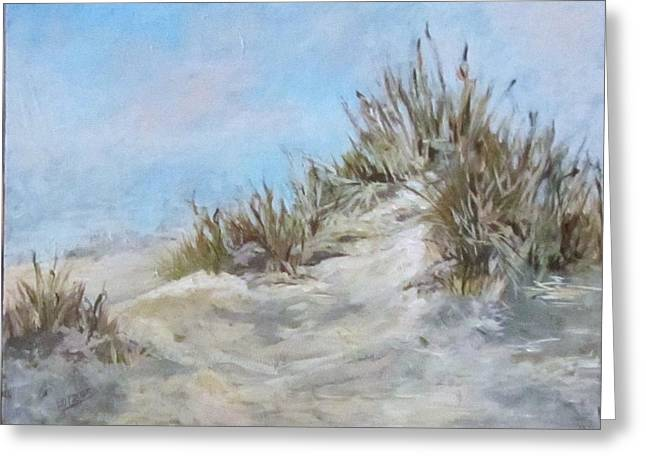 Sand Dunes And Salty Air Greeting Card