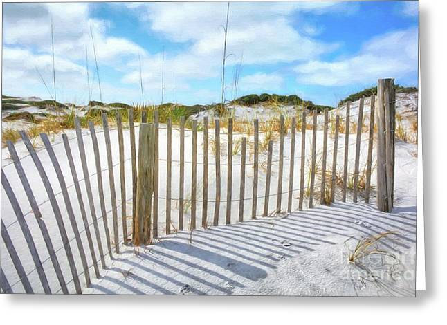Greeting Card featuring the photograph Sand Dunes At Grayton Beach # 2 by Mel Steinhauer