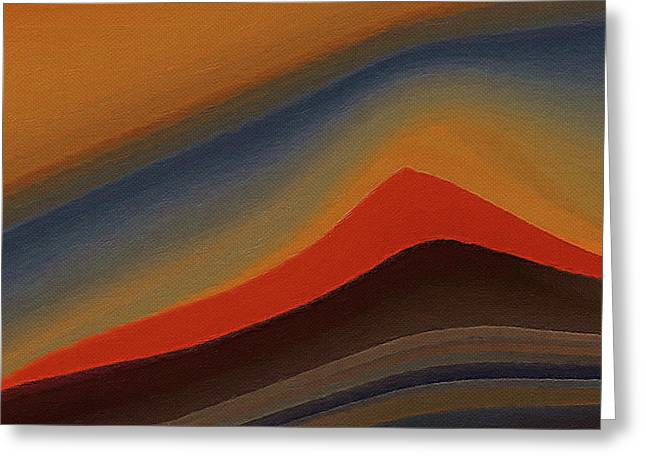 Sand Dunes At Sunset Greeting Card by Art Spectrum