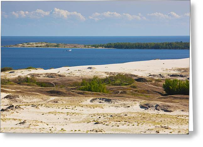 Sand Dunes At The Coast, Parnidis Dune Greeting Card by Panoramic Images
