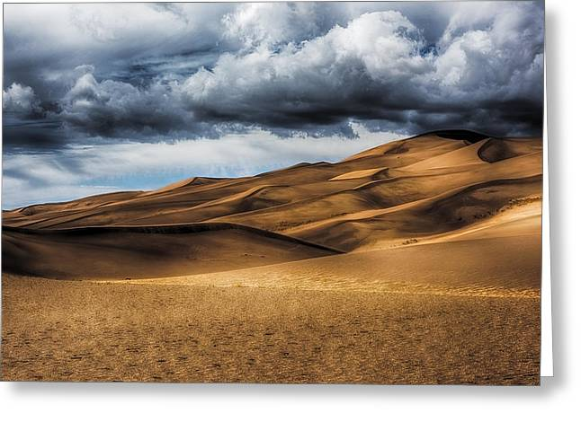 Sand Dunes In Hdr Greeting Card by Paul Freidlund