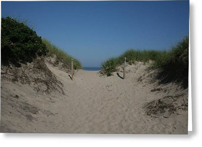 Sand Dunes Iv Greeting Card by Jeff Porter