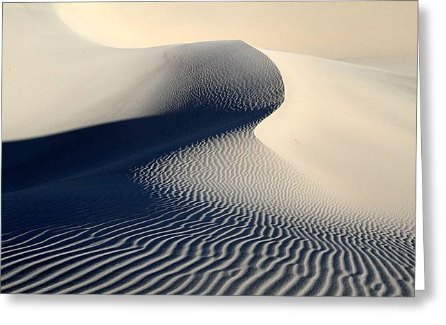 Sand Dunes Patterns In Death Valley Greeting Card by Pierre Leclerc Photography