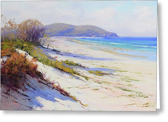 Sand Dunes Port Stephens Nsw Greeting Card