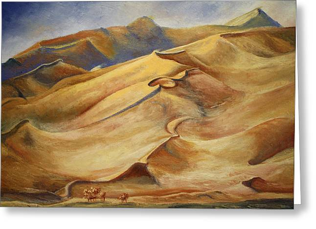Sand Dunes Greeting Card by Roena King