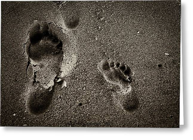 Sand Feet Greeting Card