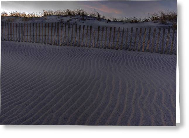 Sand Fence At Robert Moses Greeting Card by Jim Dohms