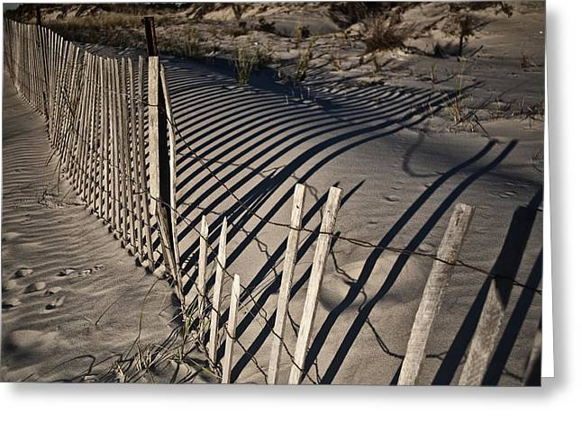 Sand Fence Greeting Card by Joel P Black