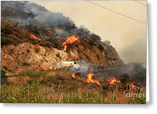 Sand Fire Greeting Card