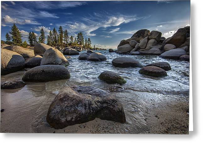 Sand Harbor II Greeting Card by Rick Berk