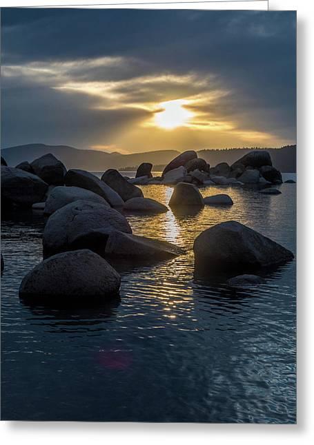 Sand Harbor Light Greeting Card